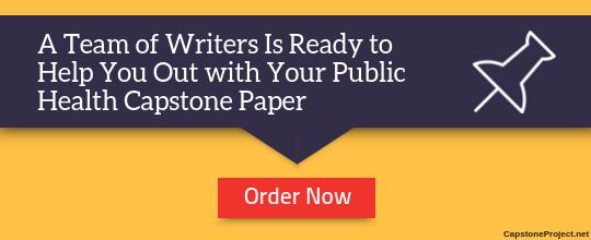 professional public health capstone project ideas