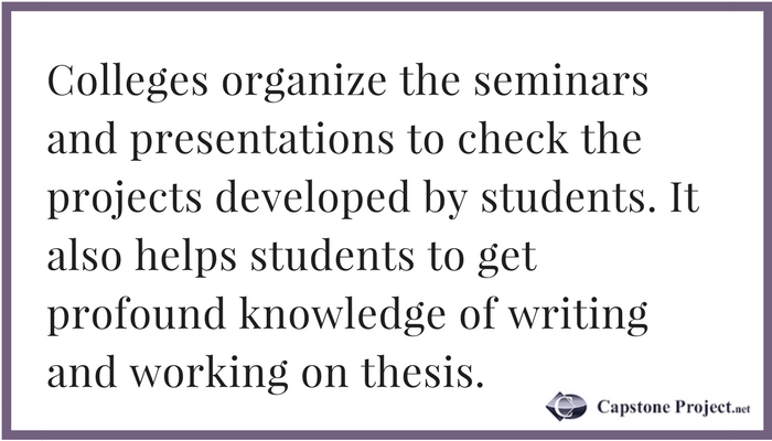 capstone project writing advice
