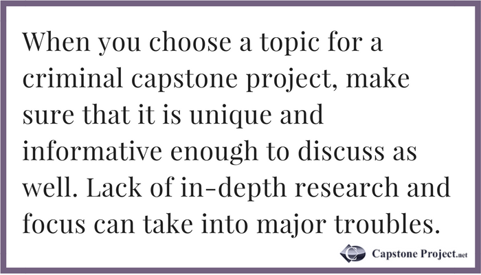 criminal justice capstone writing advice