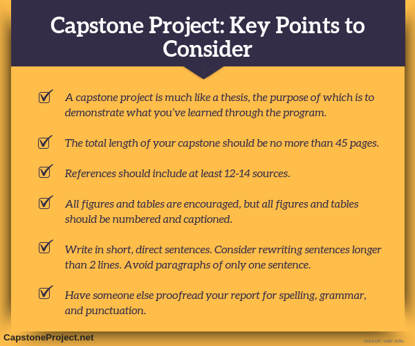 capstone project education key points