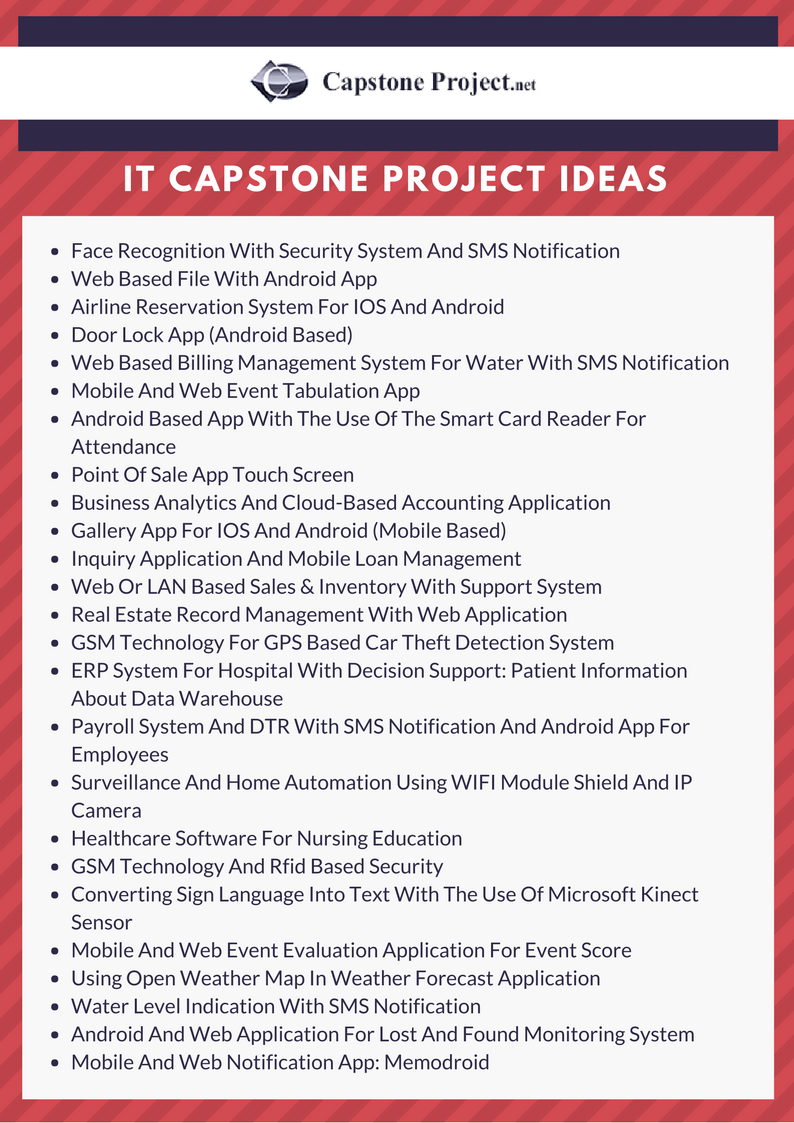 it capstone project ideas