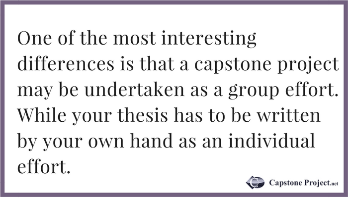 What Is the Difference Between a Capstone and a Thesis