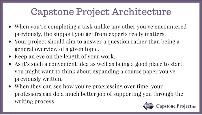 capstone project architecture tips