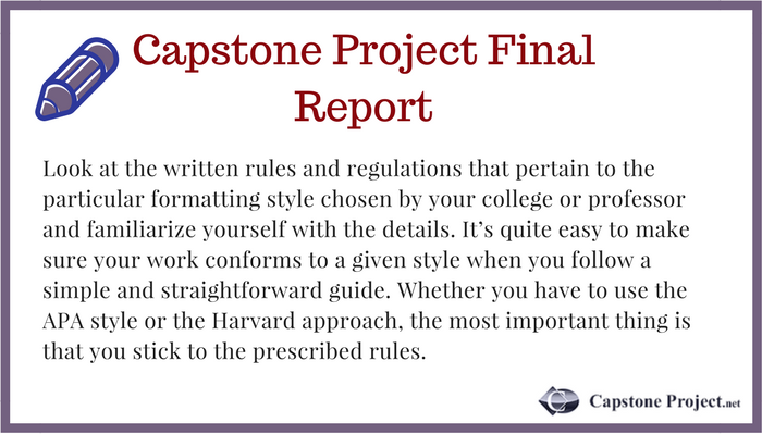 writing capstone project final report