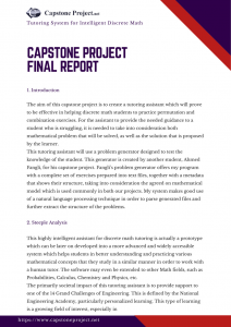 capstone project final report example