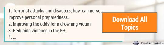 emergency room nursing research topics