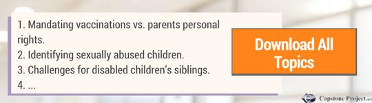 hot topics in pediatric nursing capstone