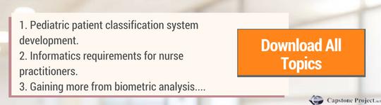 nursing informatics capstone project topics