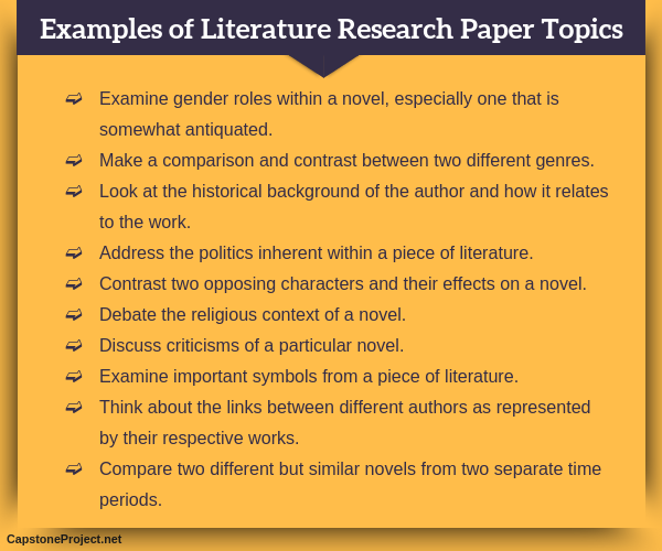 Research paper english literature