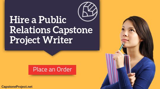 public relations capstone project writer
