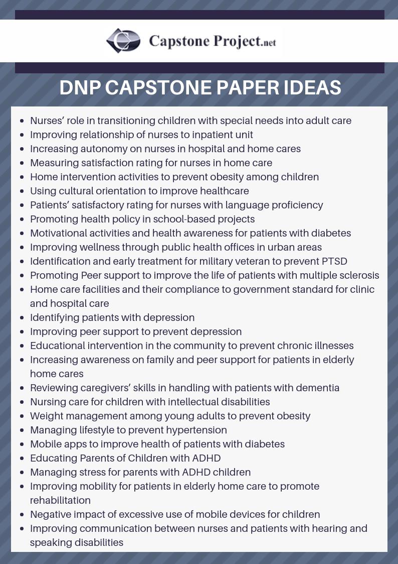 dnp capstone paper ideas